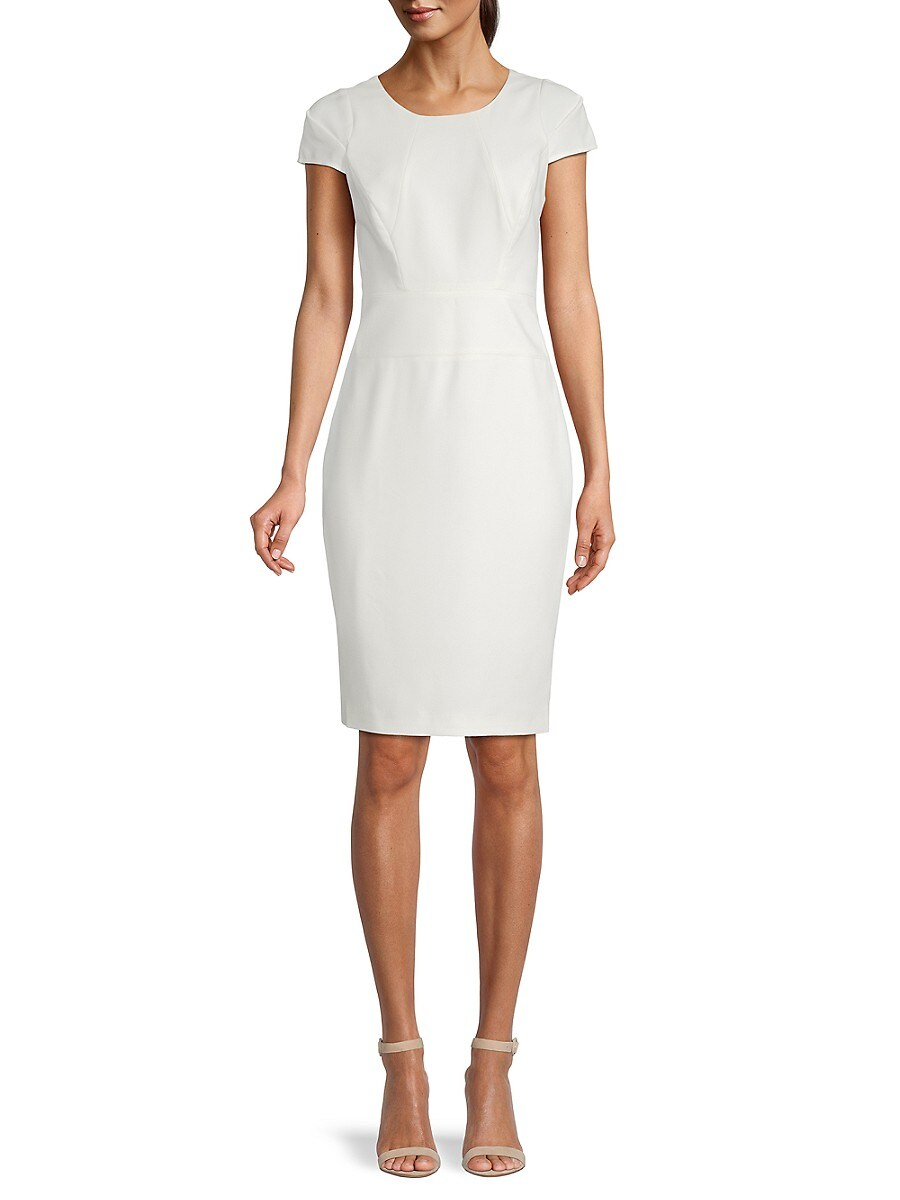 Women's Cap-Sleeve Sheath Dress