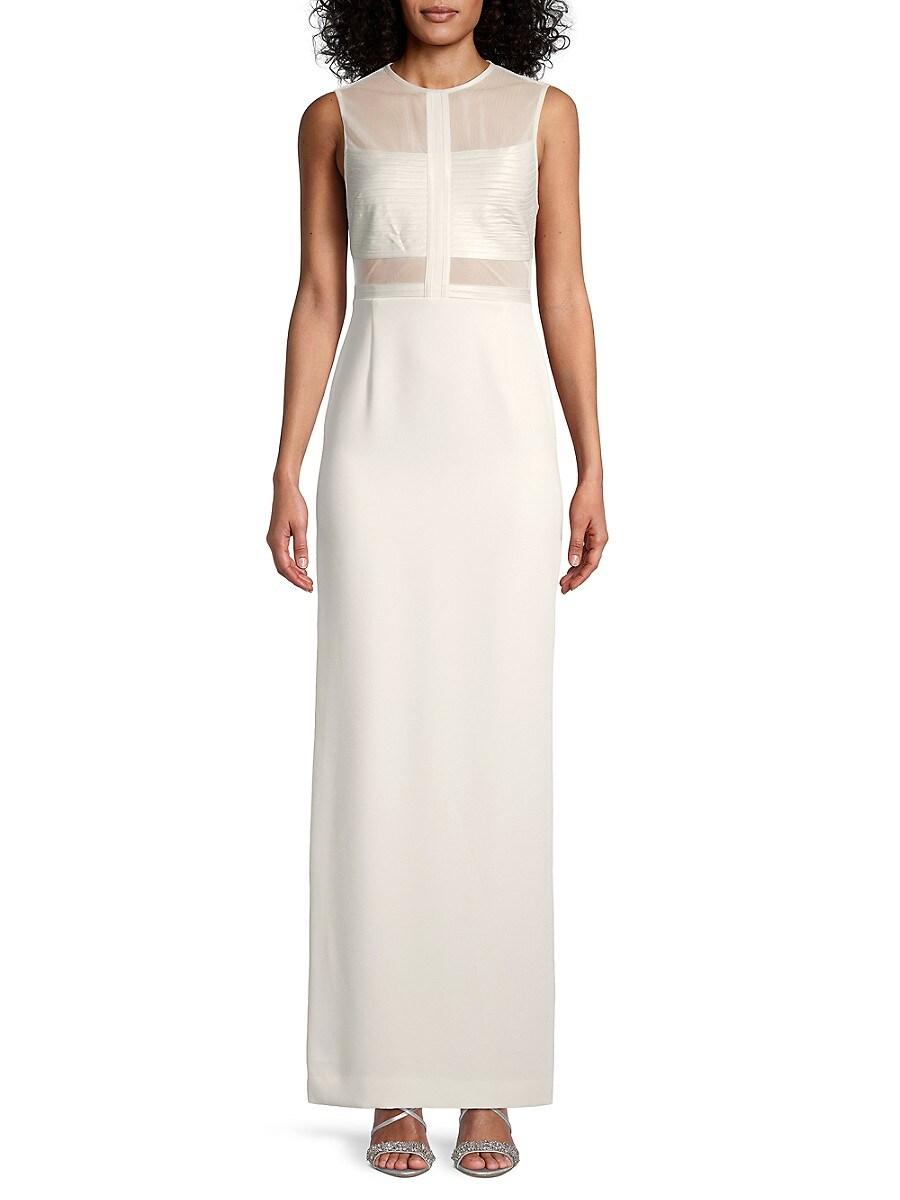 Women's Solid Mesh Gown