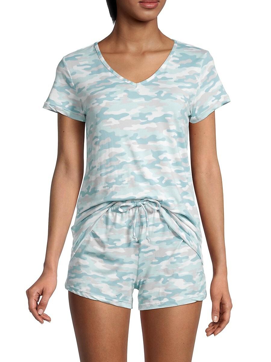 Women's 2-Piece Camo T-Shirt & Shorts Set