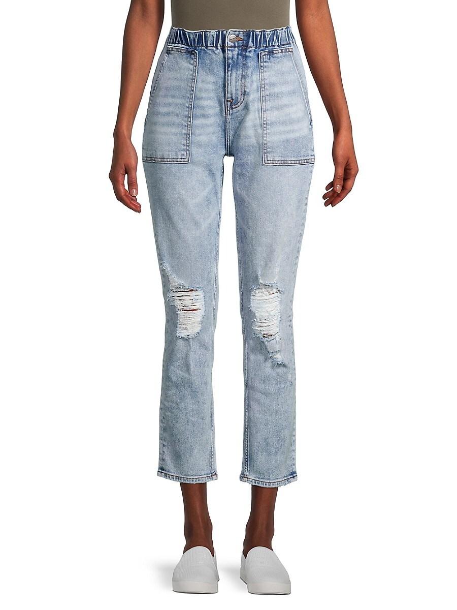 Women's Eliza Acid Wash Cropped Jeans