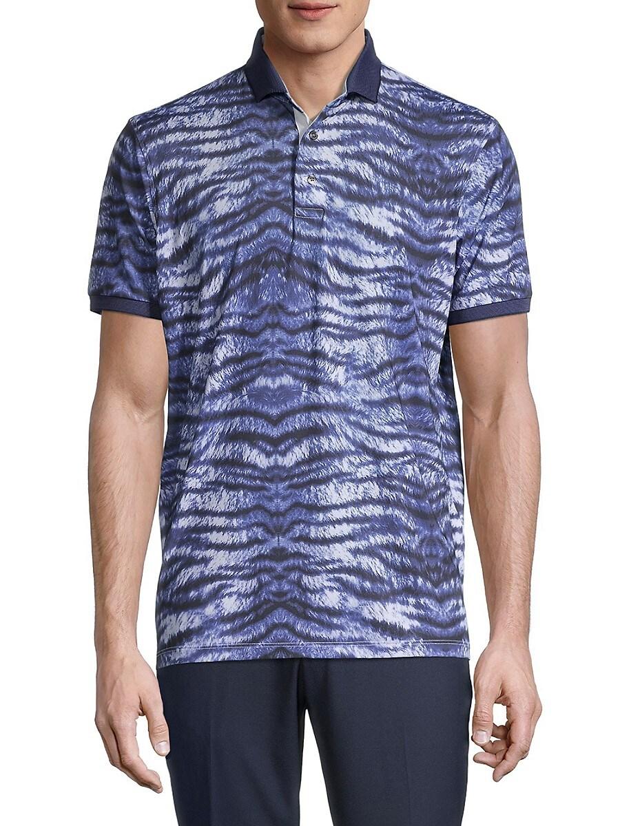 Men's Tiger-Stripe Short-Sleeve Polo