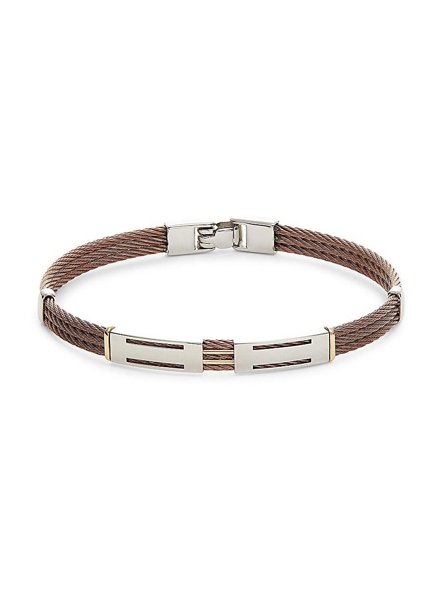 Men's Bronze Cable & Stainles Steel Bracelet