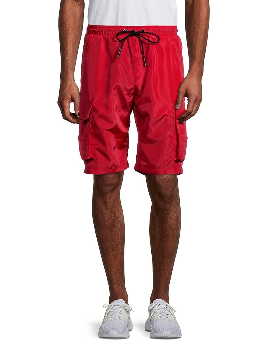 American Stitch Men's Cargo Shorts - Red - Size M