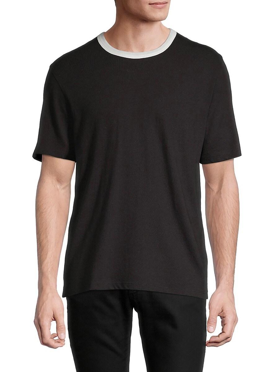 Men's Cotton & Linen Ringer T-Shirt