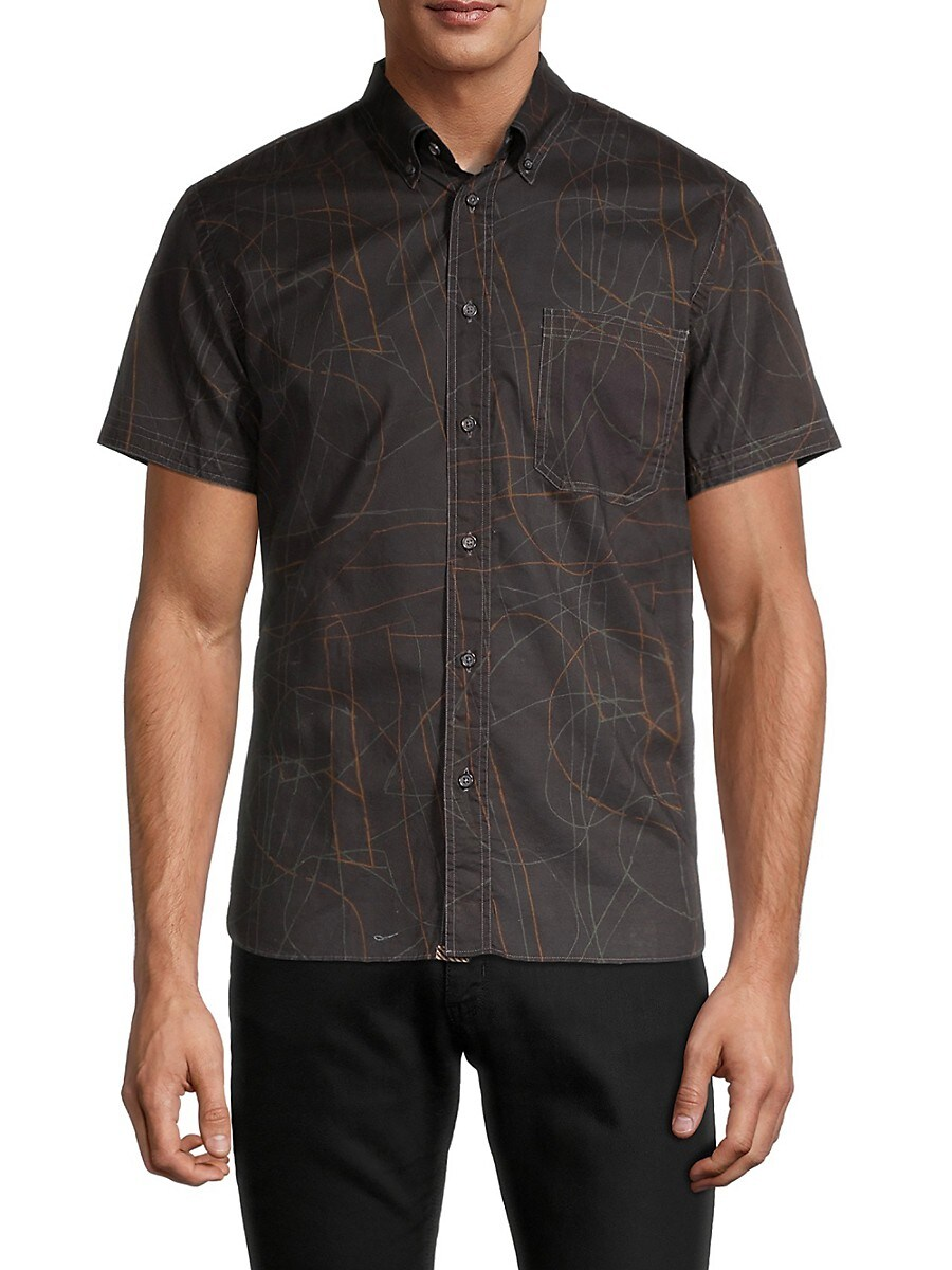 Men's Tuscumbia Standard-Fit Print Shirt