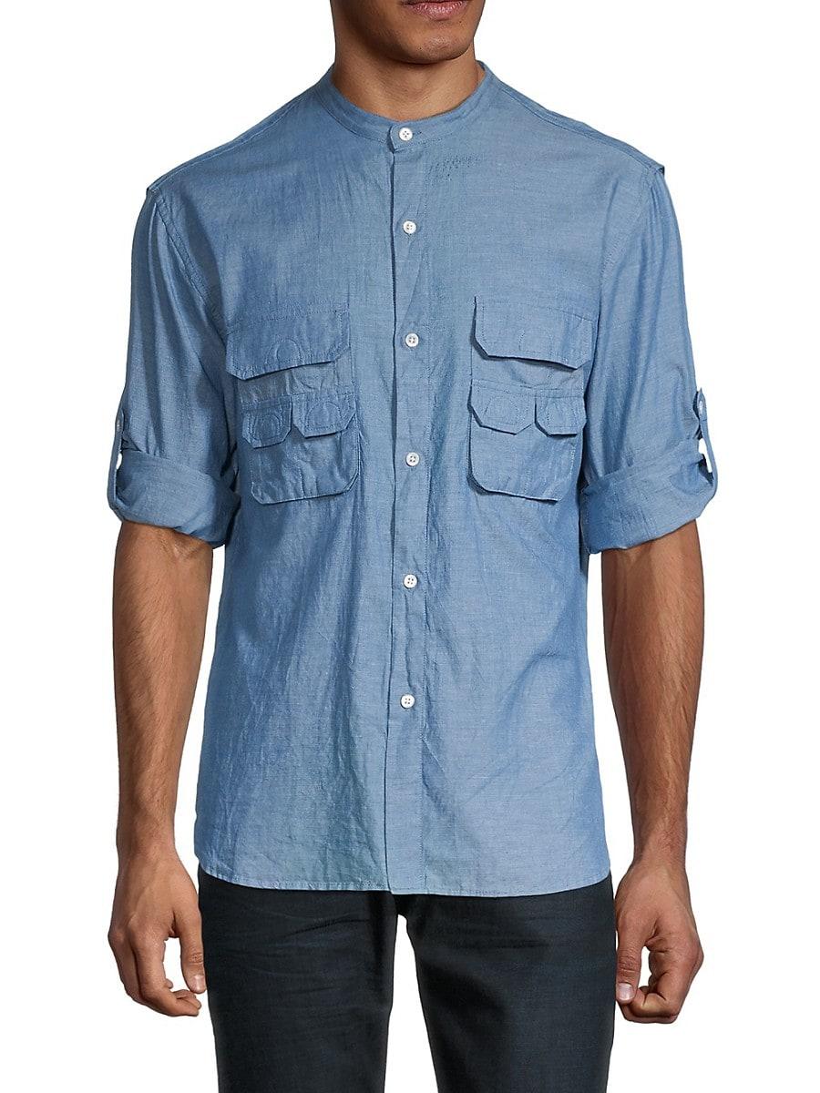 Men's Fisherman Standard-Fit Utility Shirt
