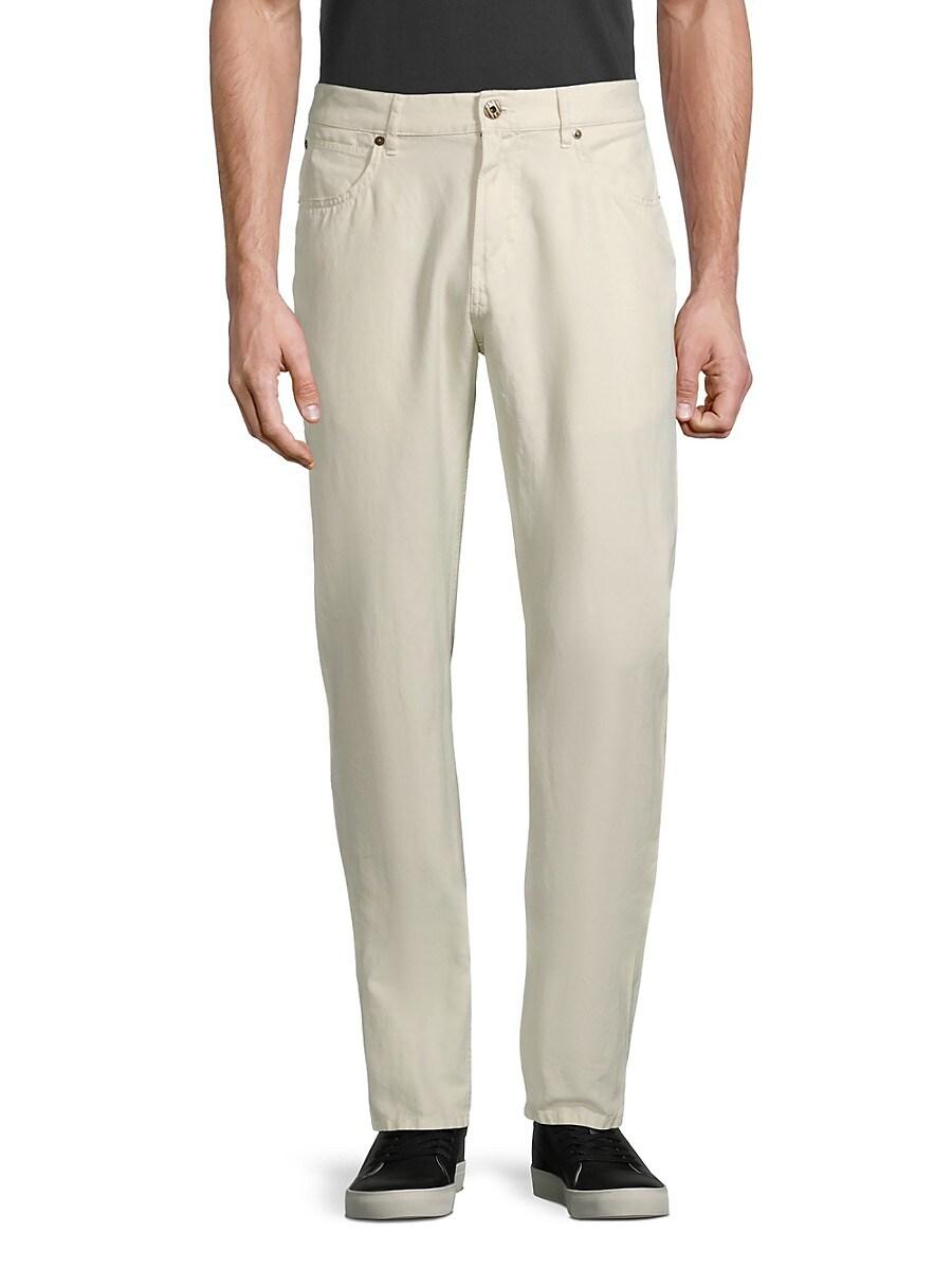 Men's Standard-fit Pima Cotton & Linen Jeans