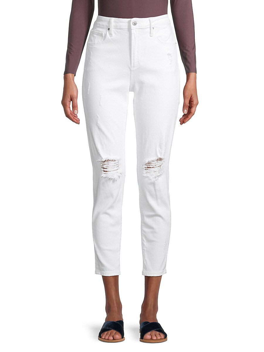 Women's Gizelle Distressed Cropped Jeans