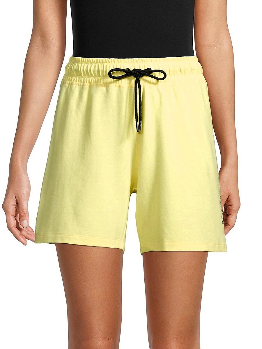 Women's Rhinestone Logo Gym Shorts