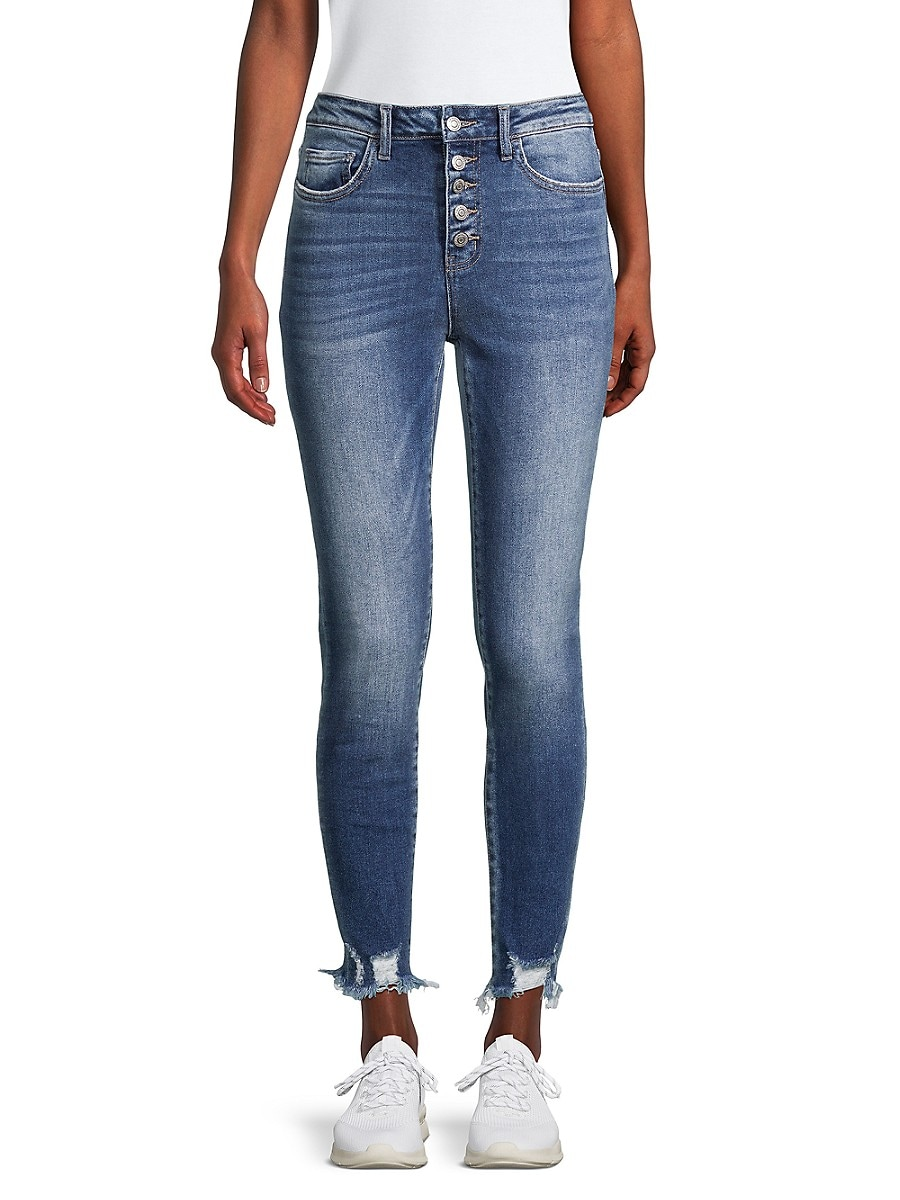 Women's High-Rise Button-Fly Jeans