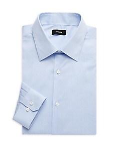 띠어리 Theory Cedrick Regular-Fit Striped Dress Shirt,OLYMPIC BLUE