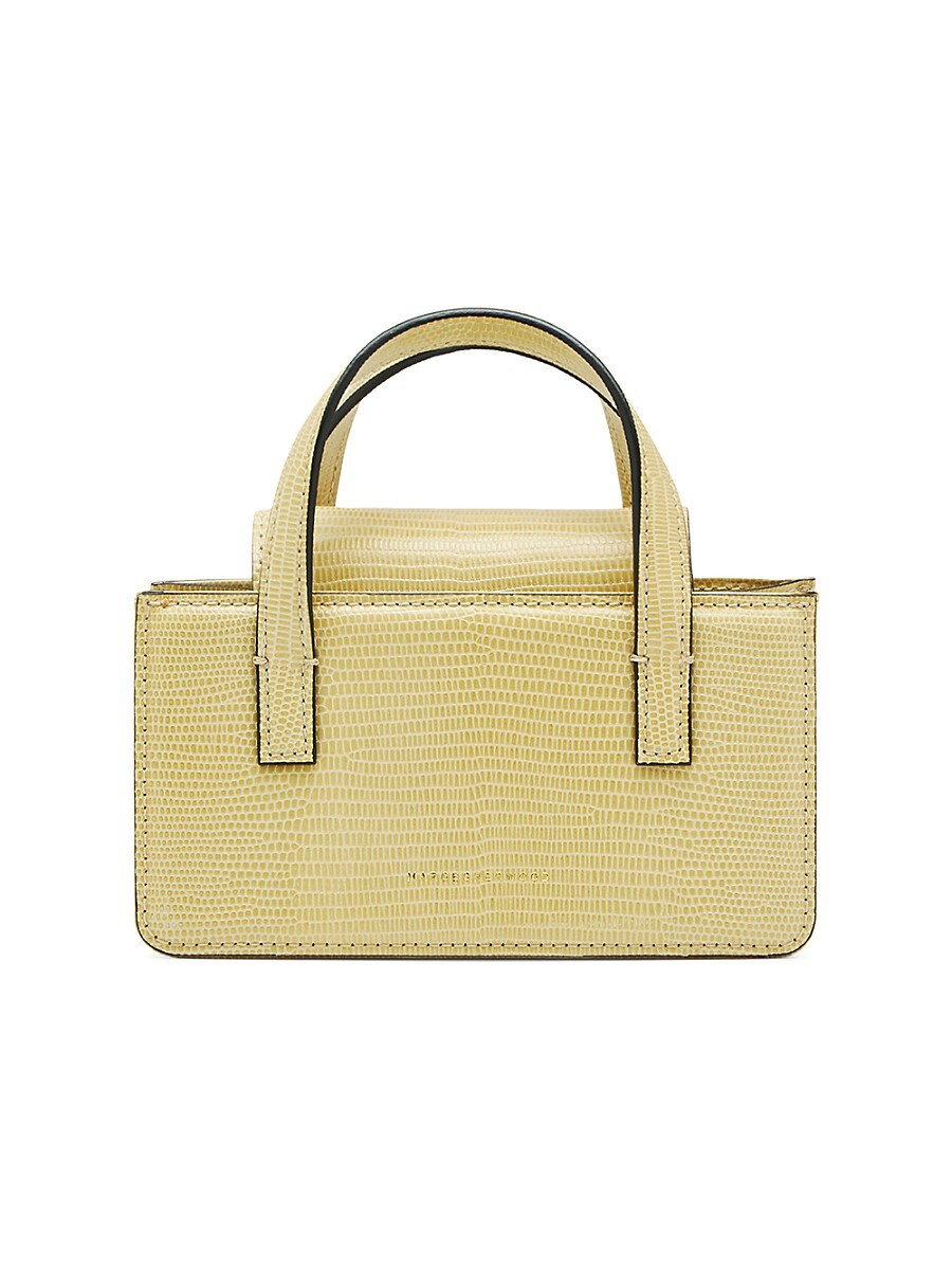 Women's Liza Square Mini Leather Top Handle Bag
