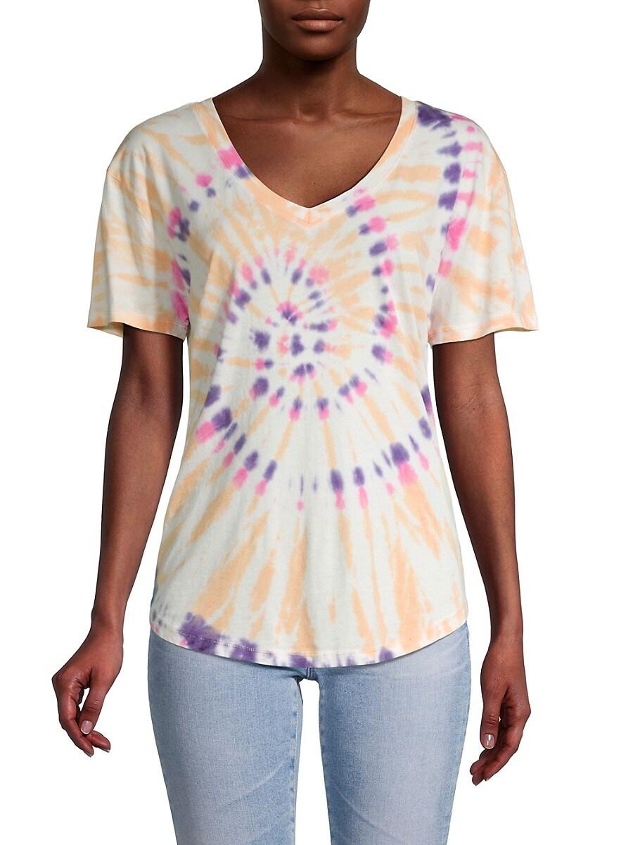 Women's Tie Dye V-Neck T-Shirt