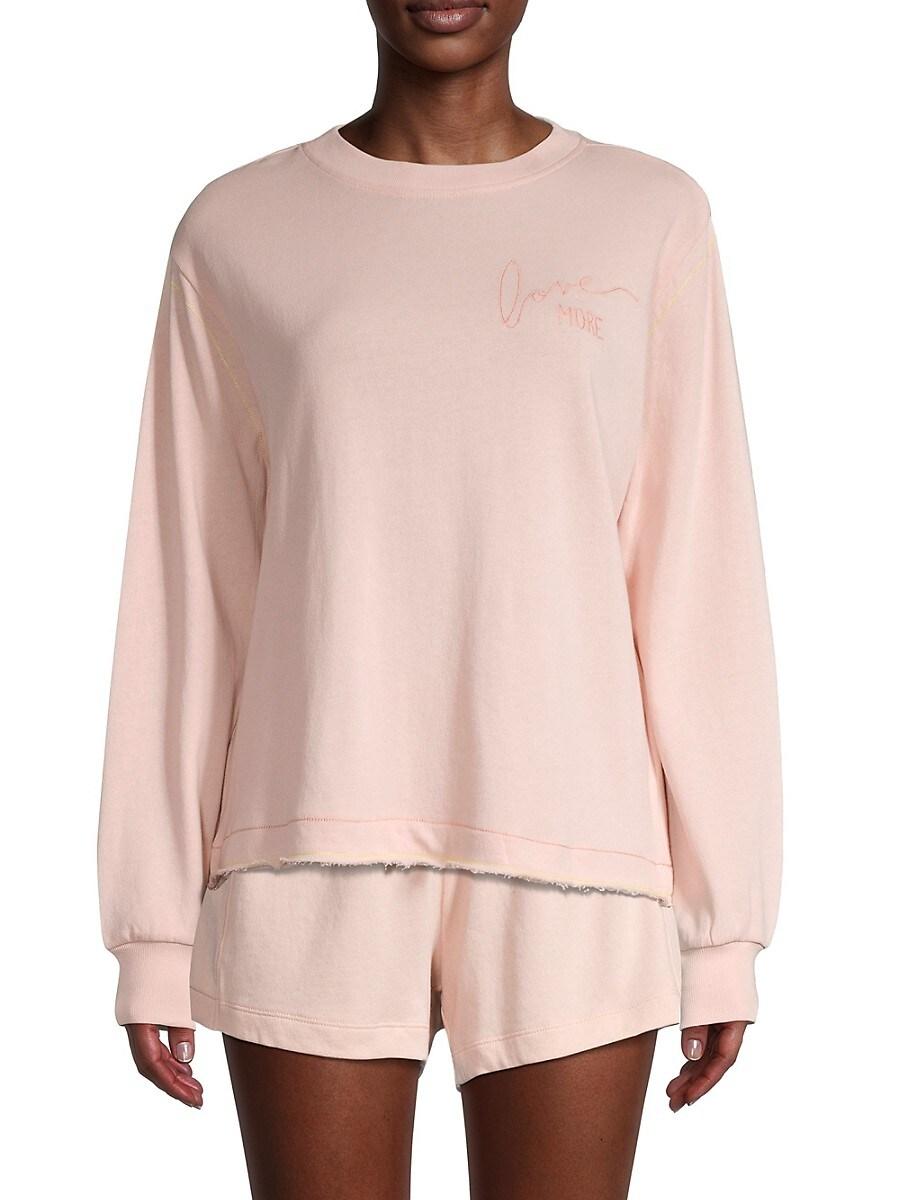 Women's Sage Embroidered Sweatshirt