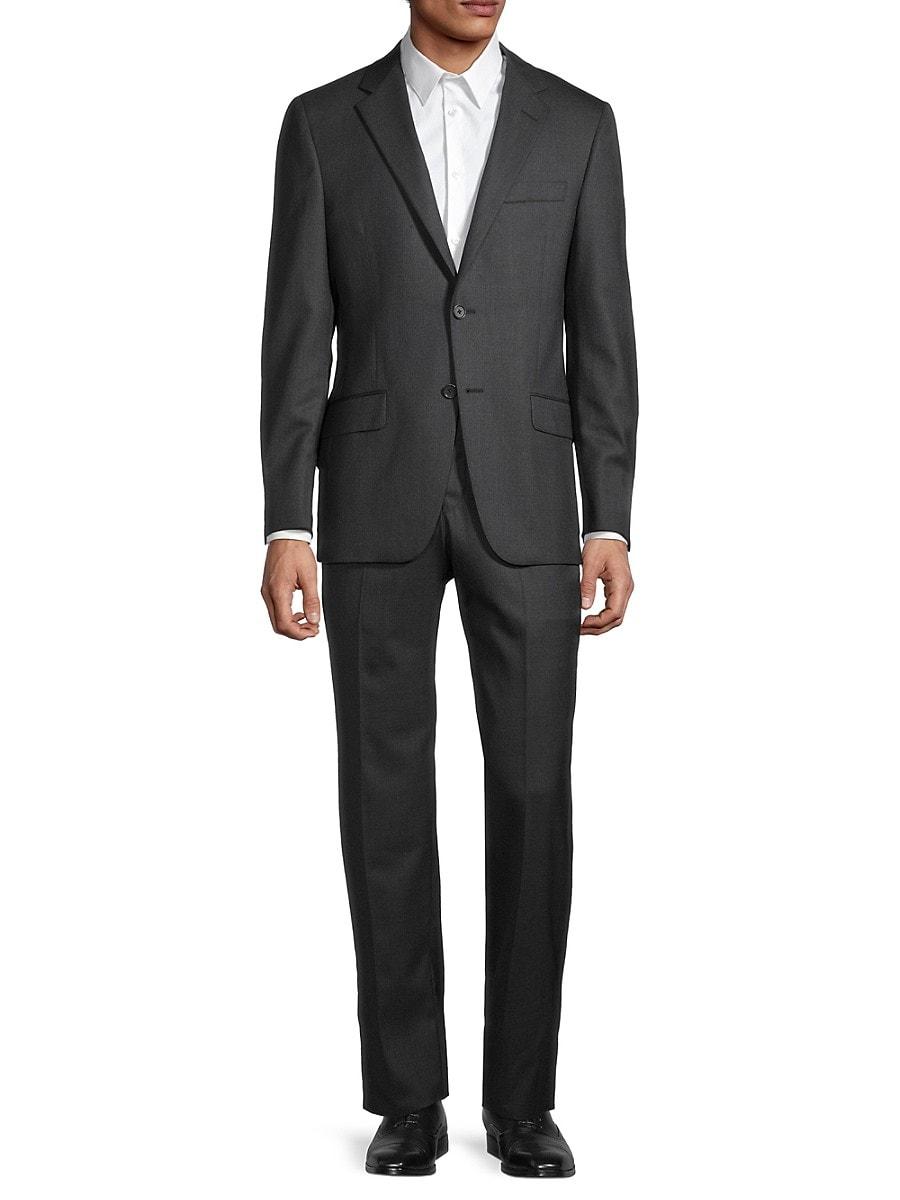Men's Milburn II Regular-Fit Melange Wool Suit