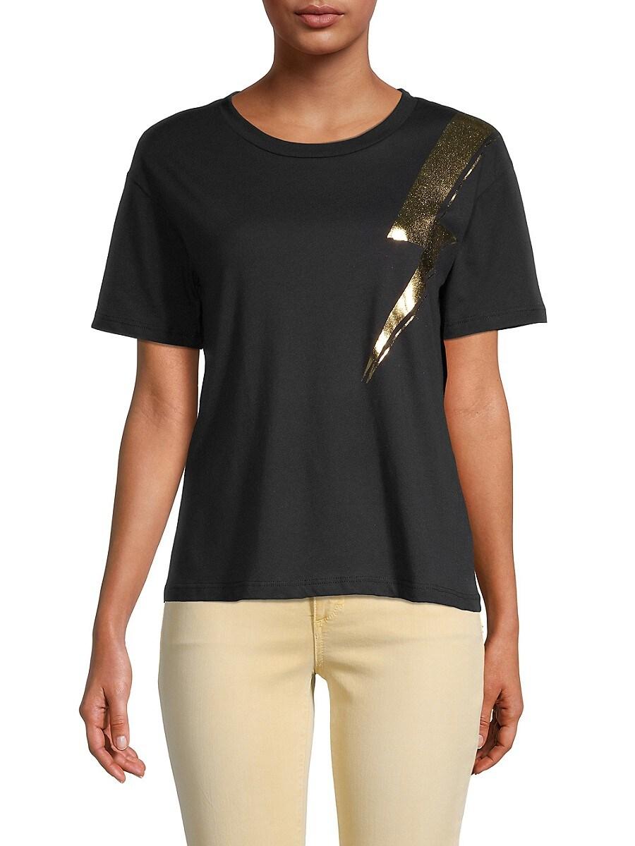 Women's Lightening Bolt Foil Graphic T-Shirt