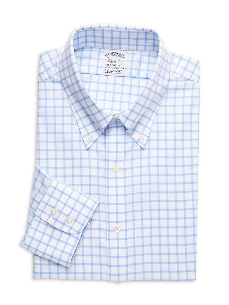 Men's Regent-Fit Check Dress Shirt