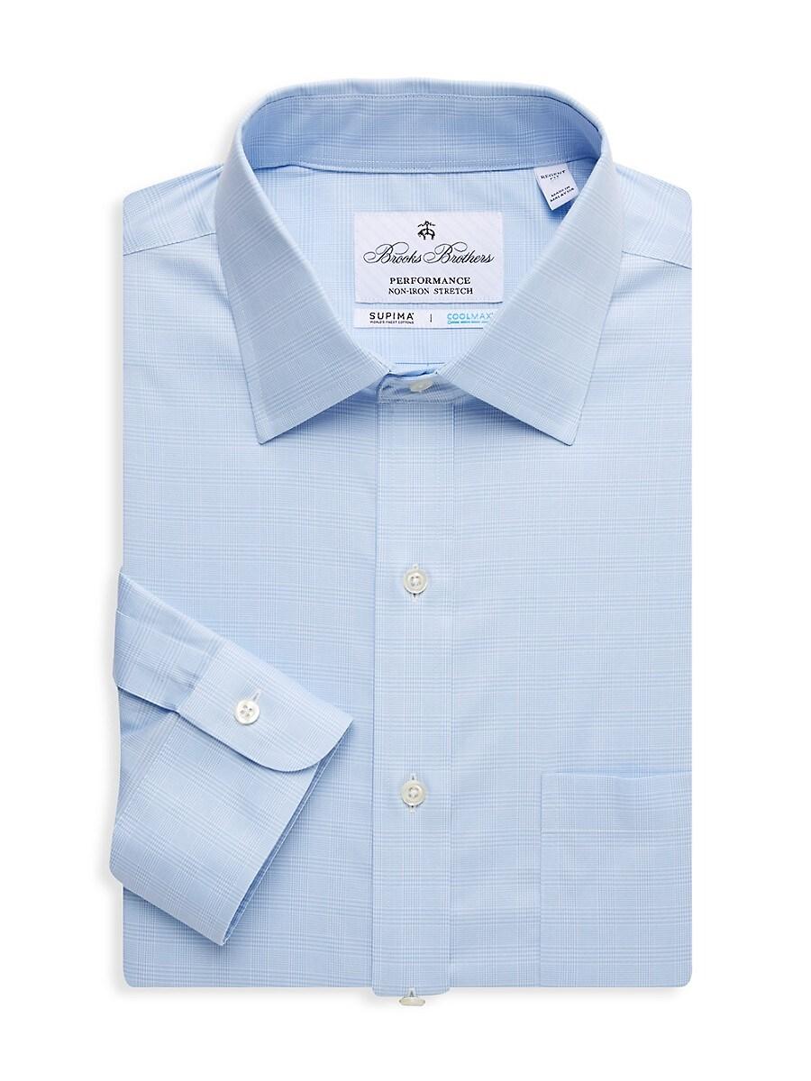 Men's Regent-Fit Plaid Dress Shirt