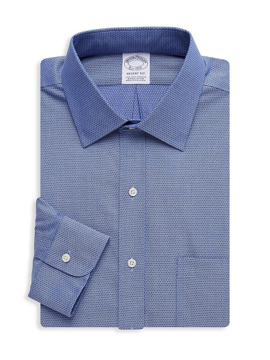 Men's Regent-Fit Print Dress Shirt