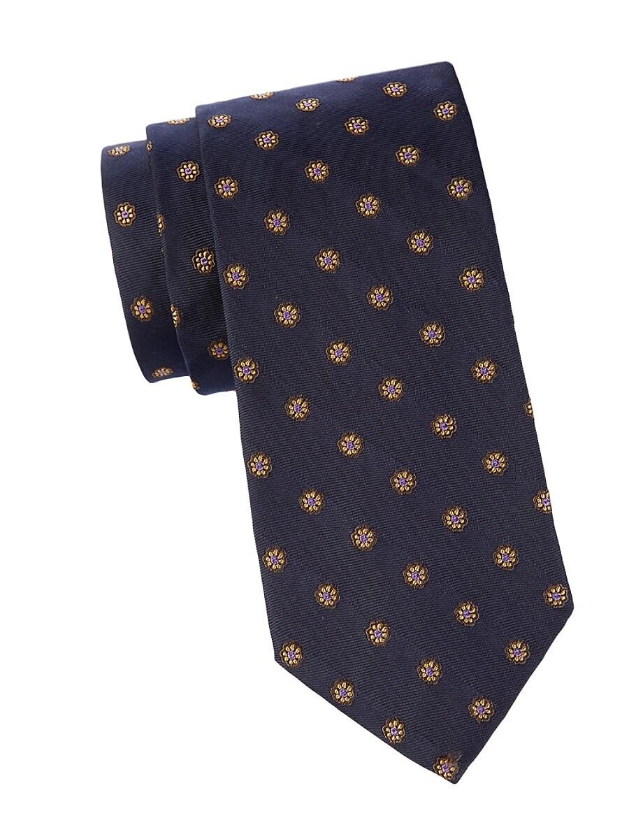 Men's Floral Silk Tie