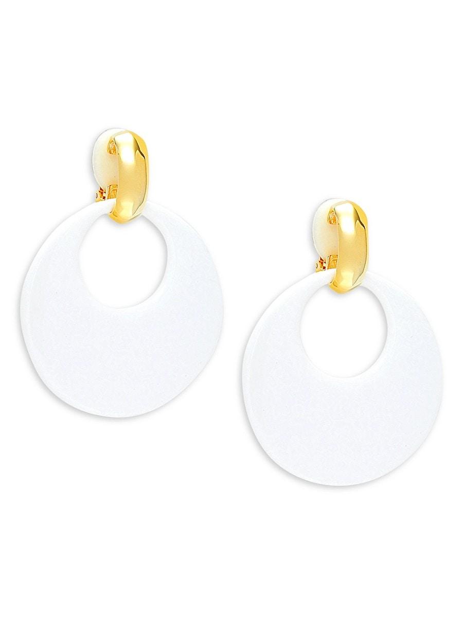 Women's Goldtone Doorknocker Earrings