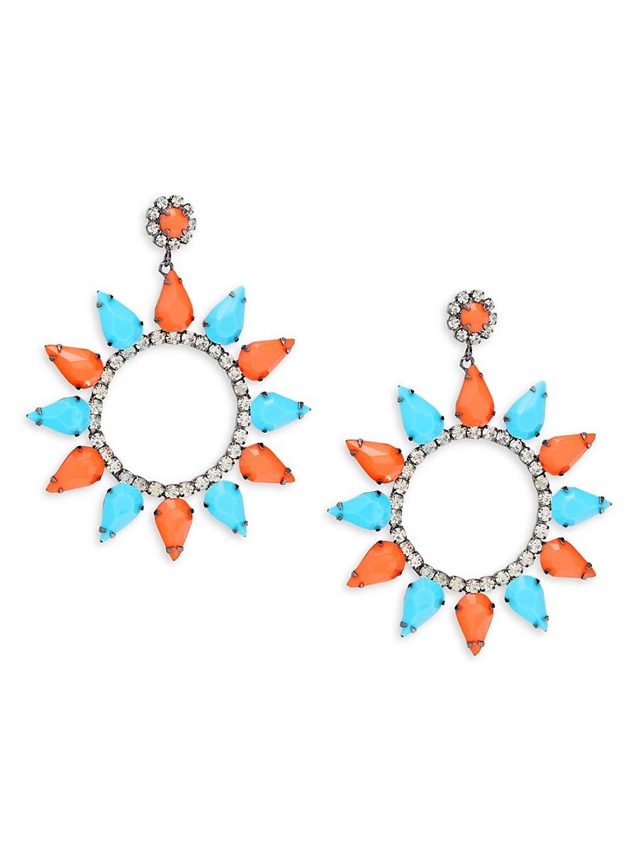 Women's Faux Crystal Flower Earrings