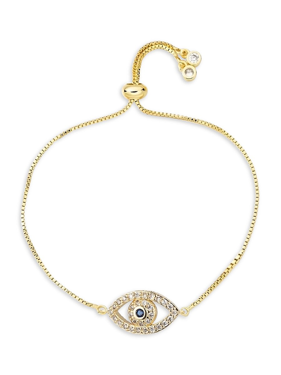 Women's Luxe Collection Bolo 18K Gold Plated Evil Eye Bracelet