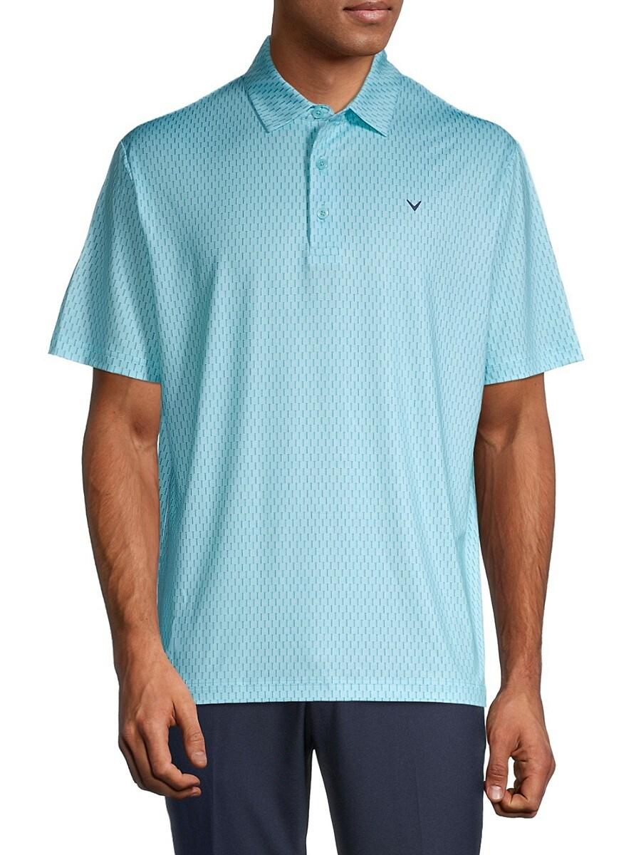 Men's Printed Short Sleeve Polo
