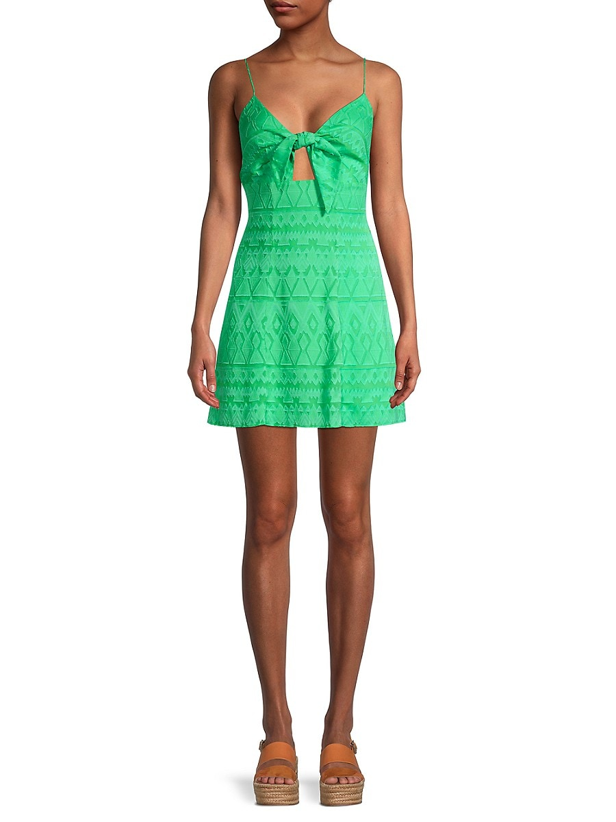 Alice + Olivia by Stacey Bendet Women's Roe Tie-Front Flare Dress