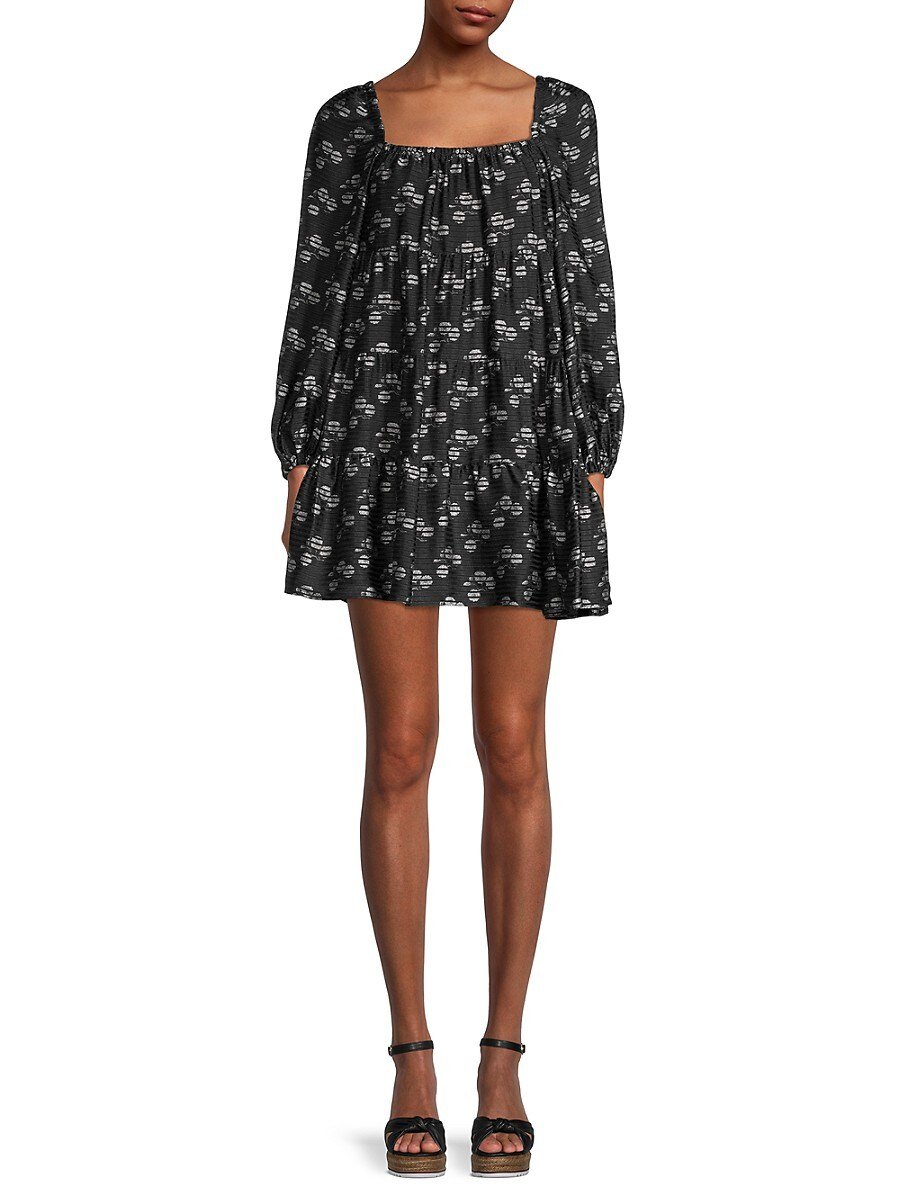 Alice + Olivia by Stacey Bendet Women's Rowen Tiered Mini A-Line Dress