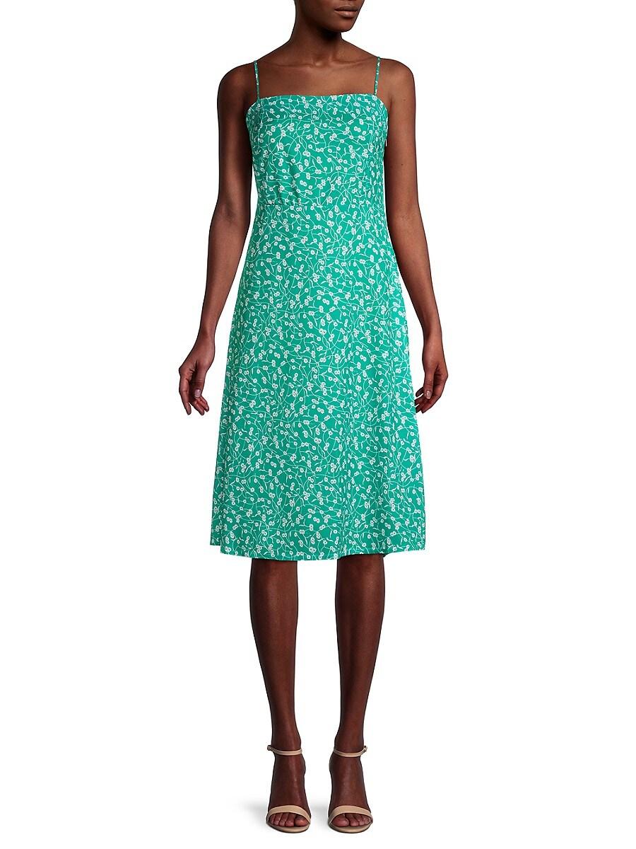 Women's Floral Spaghetti-Strap Dress