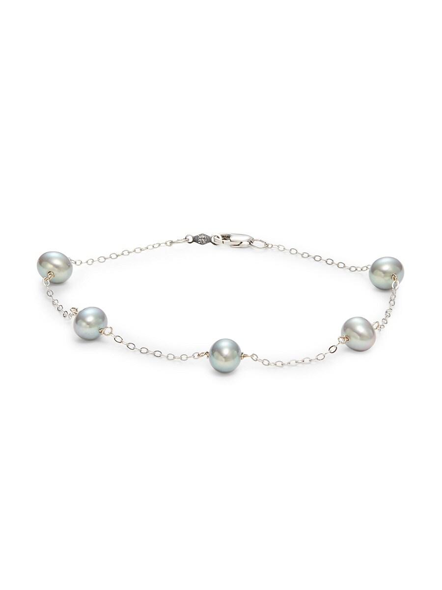 Women's 14K White Gold & 6-7MM Freshwater Pearl Bracelet