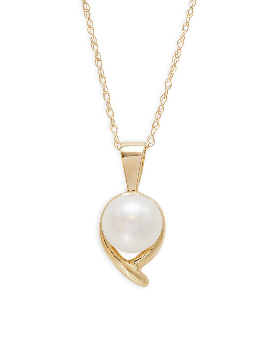 Women's 14K Yellow Gold & 7-8MM Freshwater Pearl Necklace
