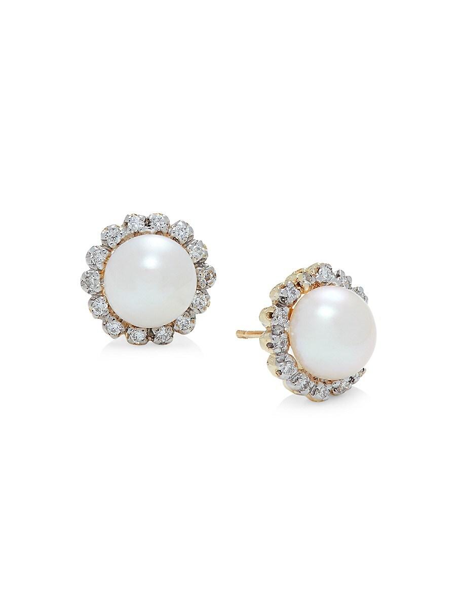 Women's 14K Yellow Gold & 6.5-7MM Freshwater Pearl Earrings