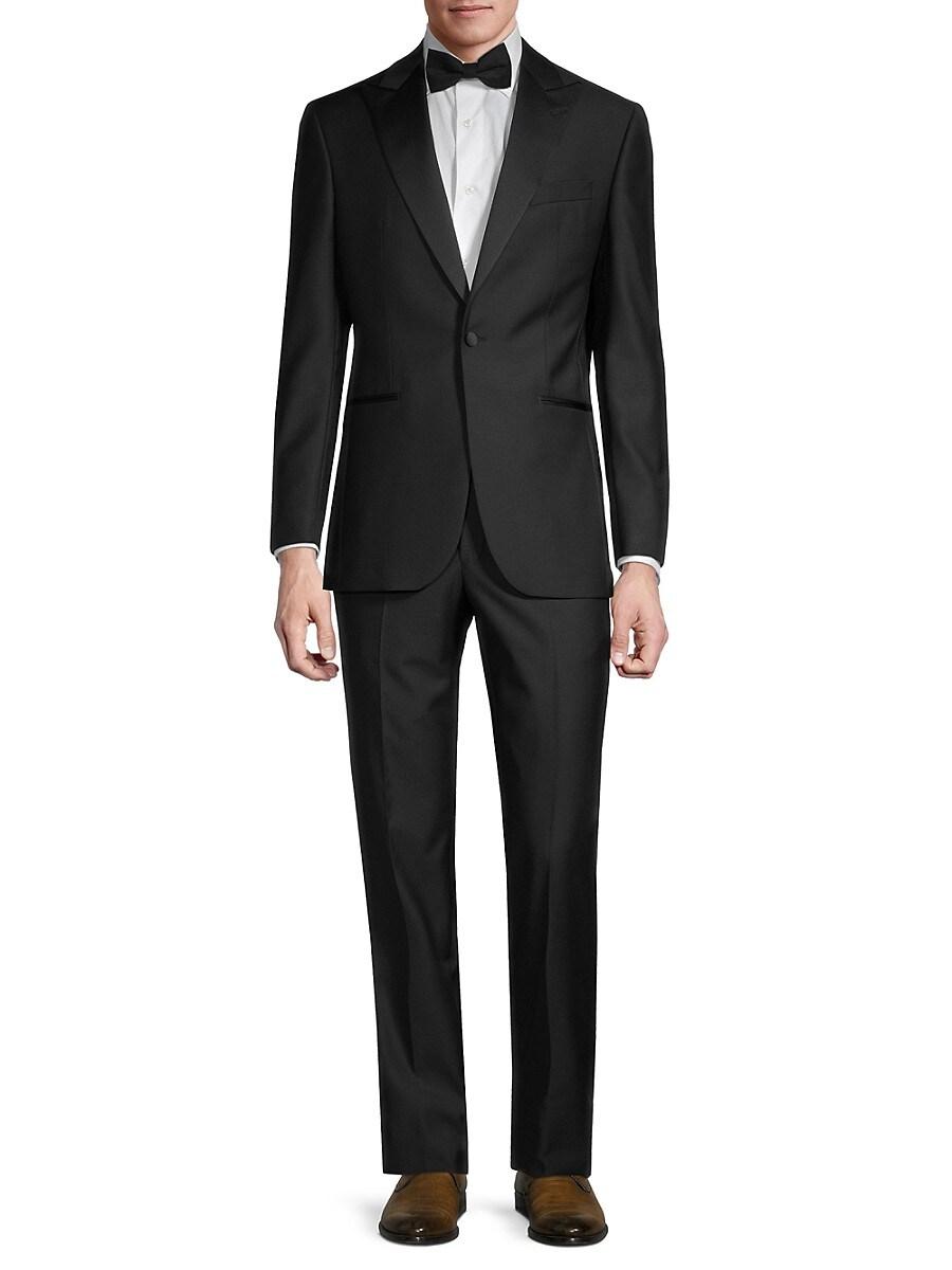 Men's Regular-Fit Wool Tuxedo Suit