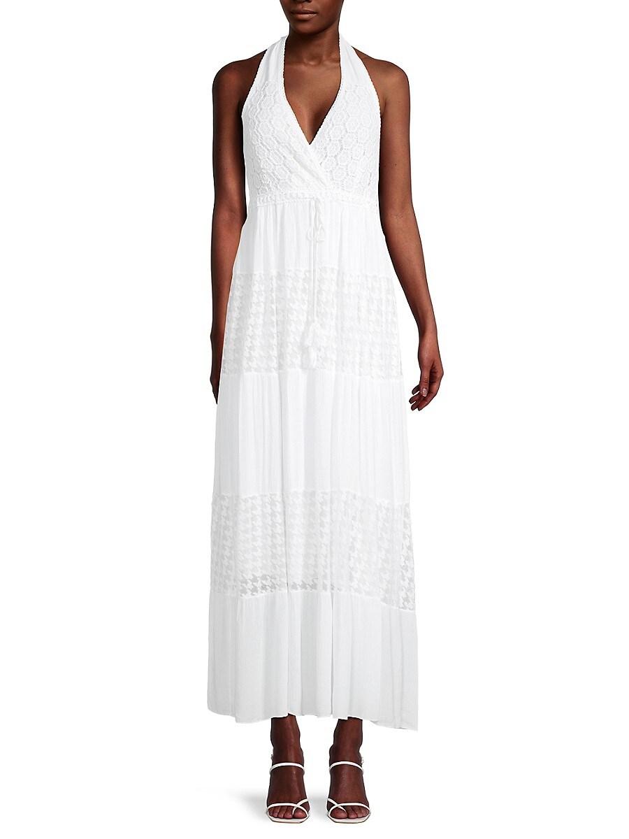 Women's Lacy Halter Maxi Dress