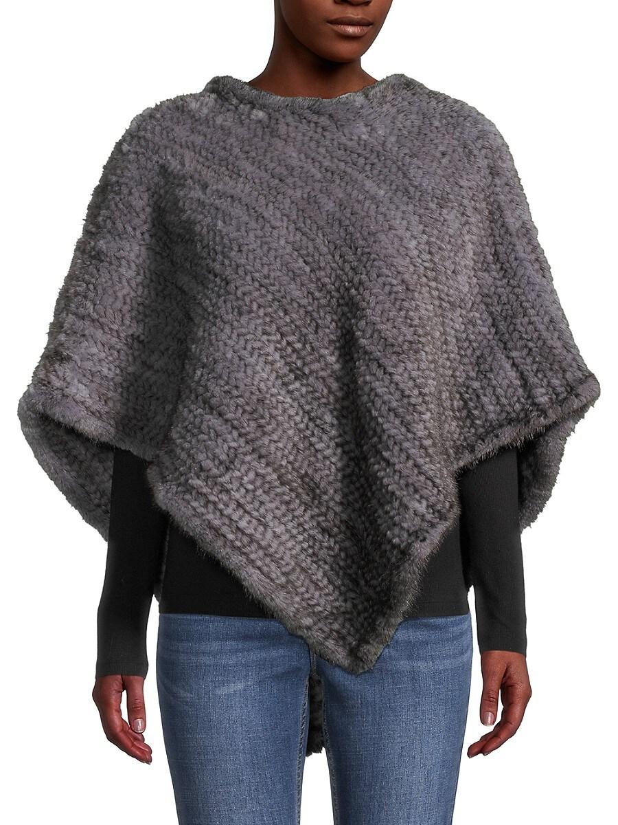 Women's Mink Fur Poncho