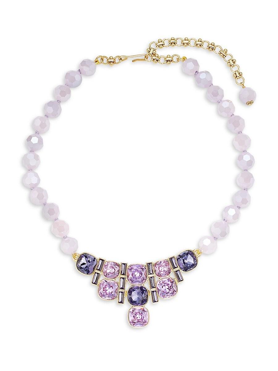 Women's Goldtone & Crystal Statement Necklace