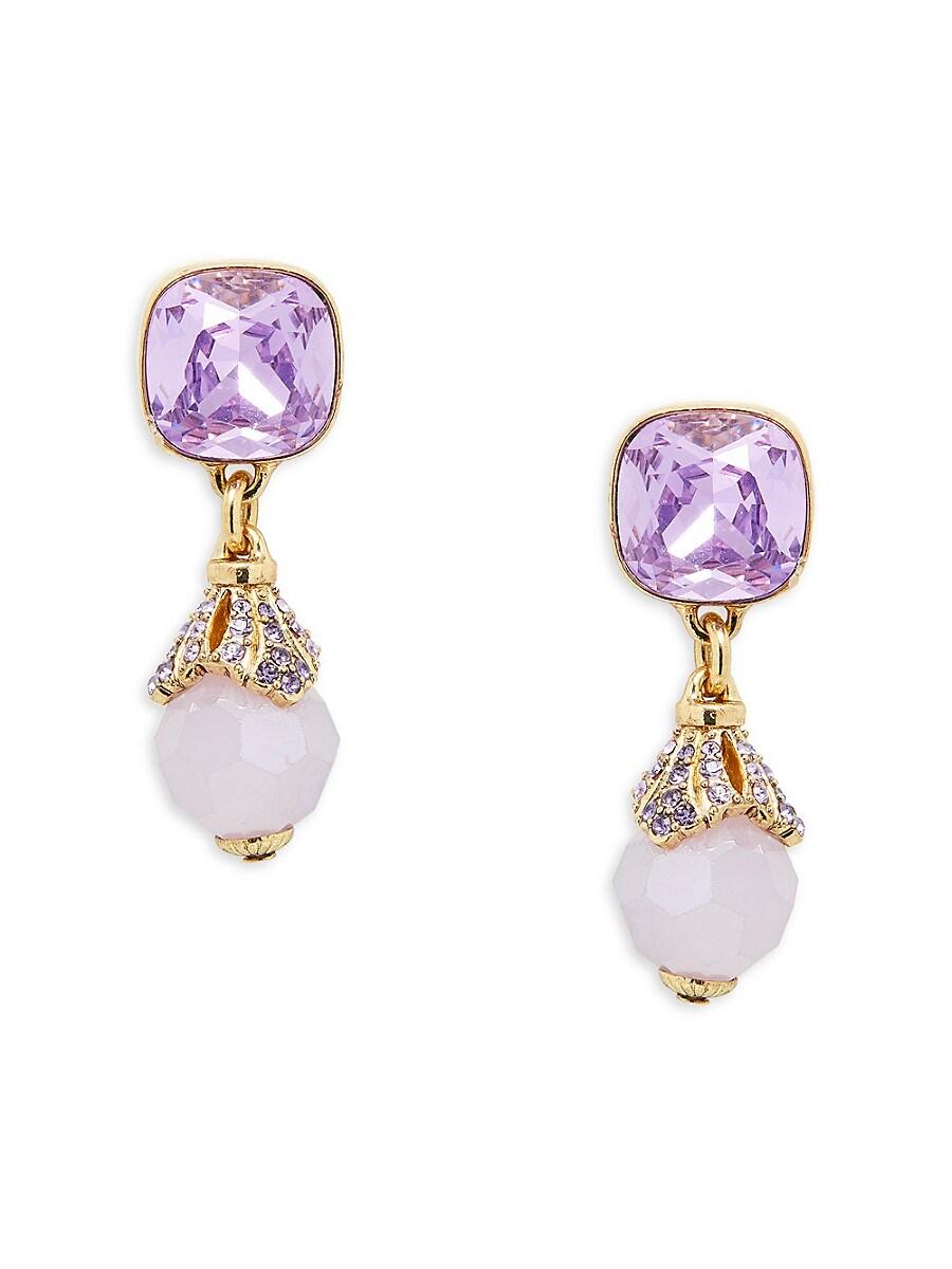 Women's Goldtone & Crystal Cushion Dangle Earrings