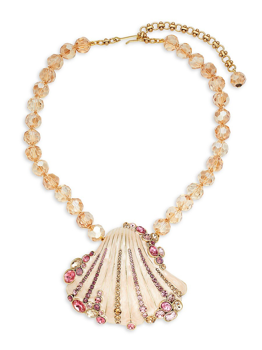 Women's Metal Alloy & Crystal Shell Necklace