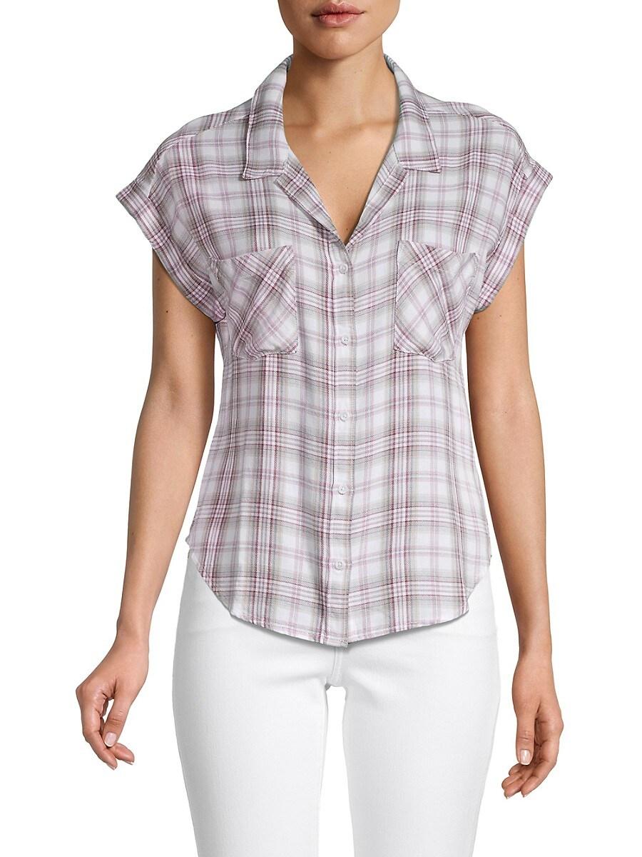 Women's Plaid High-Low Shirt