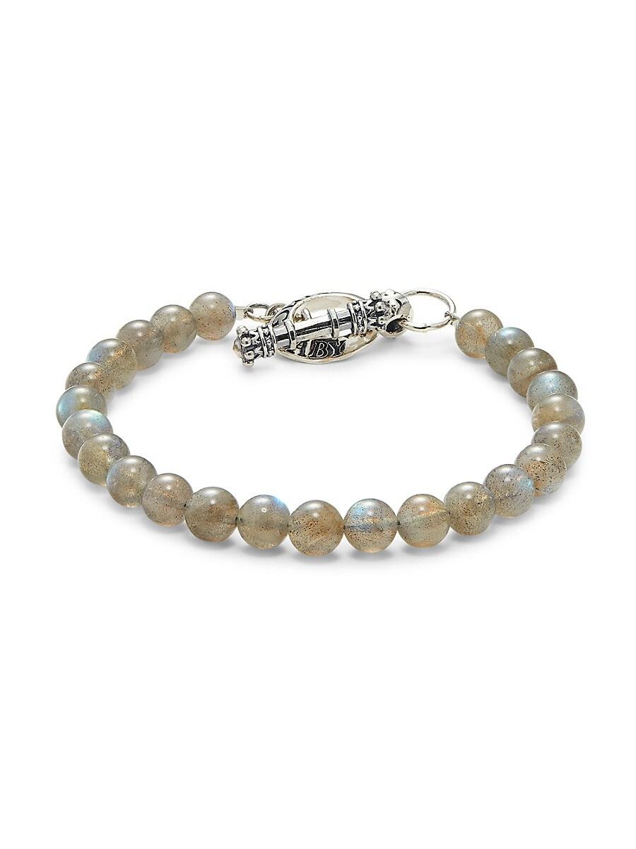 Men's Sterling Silver & Labradorite Bracelet