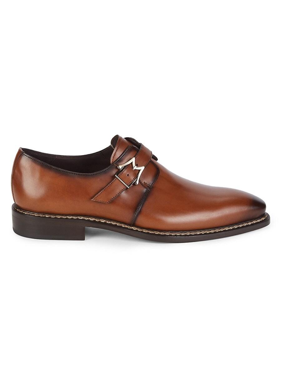 Men's Paden Monk-Strap Leather Shoes