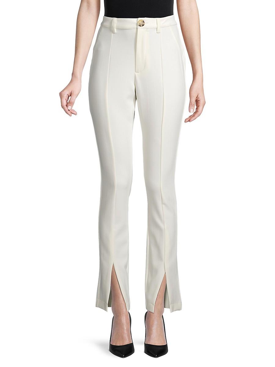 Women's High-Waist Slit-Leg Pants