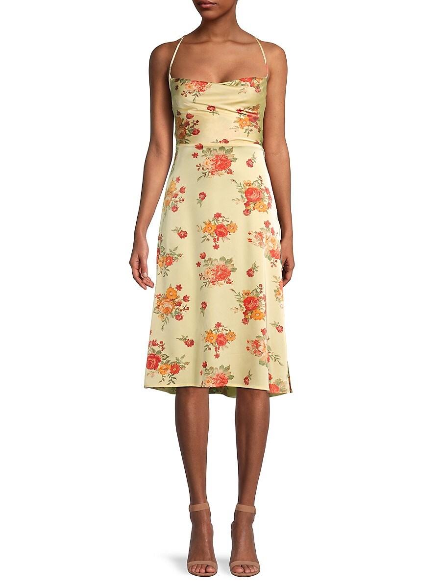 Women's Floral Tie-Back Dress