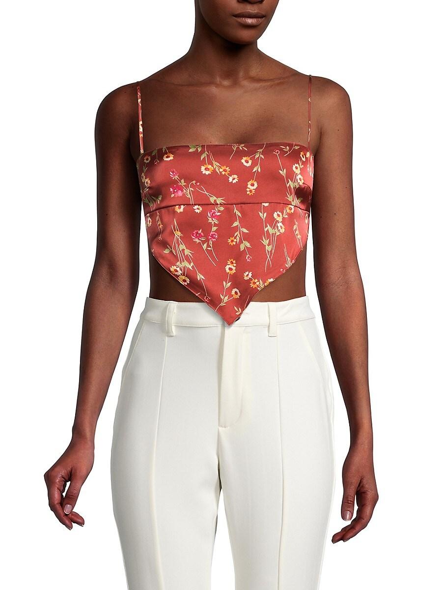Women's Floral Bandana Crop Top