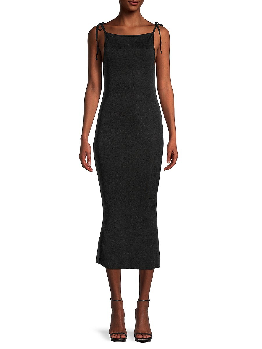 Women's Tie-Shoulder Midi Dress