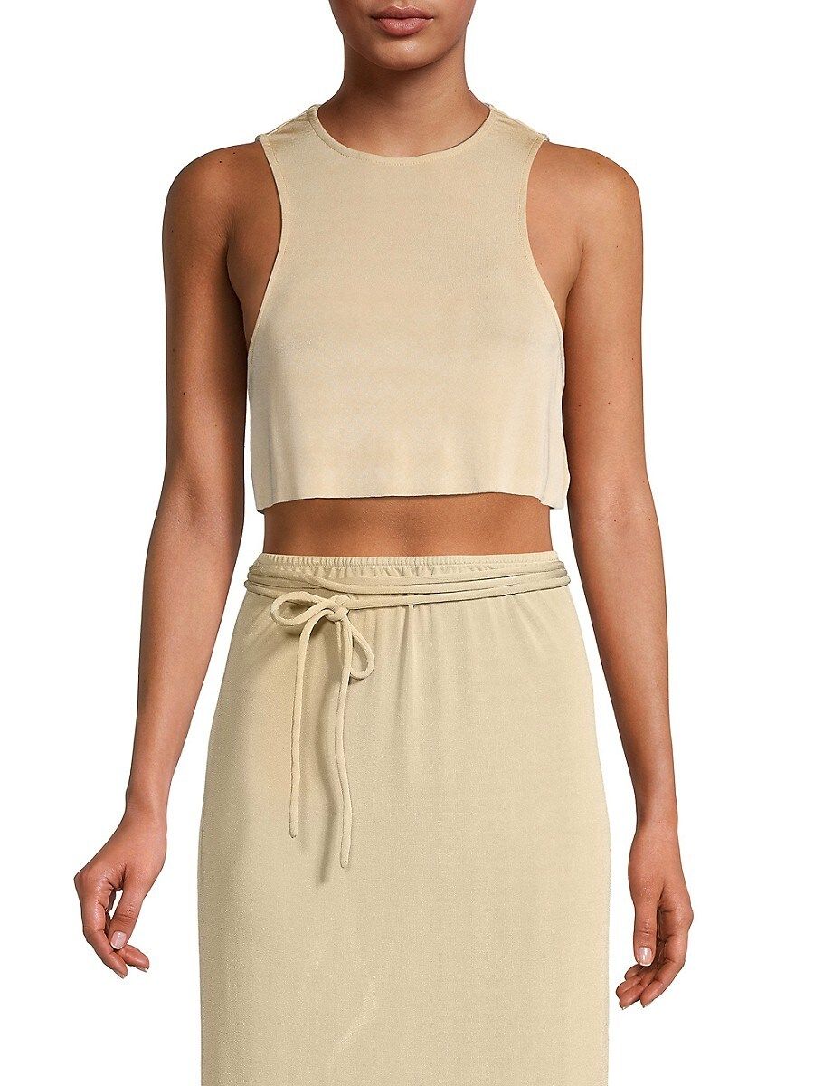 Women's Ribbed Cropped Tank Top