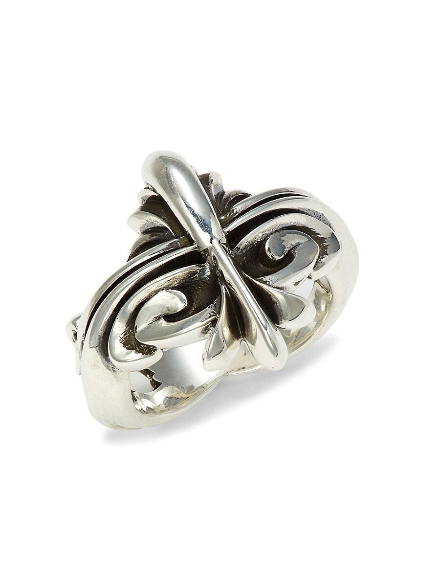 Men's Sterling Silver Scroll Ring