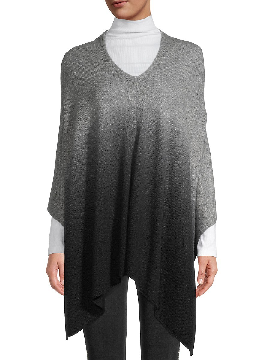 Women's Ombre High-Low Poncho